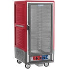 Metro C537-CLFC-U C5 3 Series Insulated Low Wattage 3/4 Size Heated Holding and Proofing Cabinet with Universal Wire Slides and Clear Door - Red