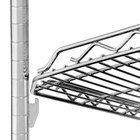 Metro HDM1448QC qwikSLOT Drop Mat Chrome Wire Shelf - 14 inch x 48 inch