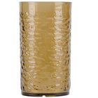 Carlisle 551718 Pebble Optic 16.7 oz. Smoke SAN Plastic Tumbler - 24/Case