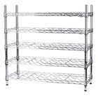 Regency 14 inch x 36 inch 5 Shelf Wire Wine Rack with 34 inch Posts - 40 Bottle Capacity