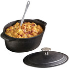 American Metalcraft CIPO4 11 1/2 inch x 8 Oval Cast Iron Casserole with Handles