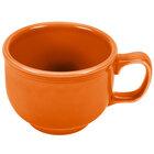 Homer Laughlin 149325 Fiesta Tangerine 18 oz. Jumbo Cup - 12 / Case