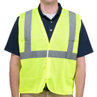 Lime Class 2 High Visibility Surveyor's Safety Vest with Velcro® Closure - Large