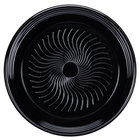 Visions Black PET Plastic 18 inch Thermoform Catering / Deli Tray - 5/Pack