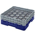 Cambro 20S958186 Camrack 10 1/8 inch Navy Blue 20 Compartment Glass Rack