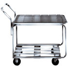 Win-Holt 9000-STK4 Two Shelf Chrome Plated Steel Stocking Cart - 44 inch x 18 1/2 inch