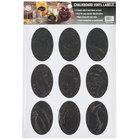 American Metalcraft CSO18 3 inch x 2 inch Oval Vinyl Chalkboard Labels - 18/Pack