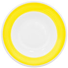 CAC R-120-Y Rainbow 26 oz. Yellow Rolled Edge Pasta Bowl - 12 / Case