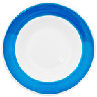 CAC R-120-BLU Rainbow 26 oz. Blue Rolled Edge Pasta Bowl - 12 / Case