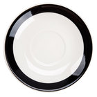 CAC R-2-BLK Rainbow 6 inch Black Saucer - 36 / Case