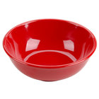 Pure Red 32 oz. Melamine Salad Bowl - 12/Pack