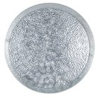 Tablecraft GP8 8 1/2 inch Round Galvanized Steel Diner Platter - 12/Pack