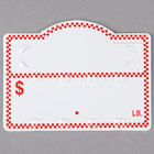 Deli Number Tag with Insert - Red Checkered