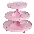 Wilton 1512-0884 3-Tier Disposable Cupcake Display Stand With Pink Borders