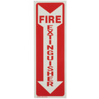 Buckeye 12 inch x 4 inch Red and White Glow-In-The-Dark Fire Extinguisher Adhesive Label