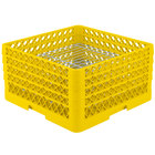Vollrath PM3208-3 Yellow Traex 32 Compartment Plate Rack - 4 3/4 inch-7 5/8 inch