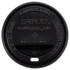 Dart Solo TLB316-0004 Traveler Black Dome Hot Cup Lid with Sip Hole - 100/Pack