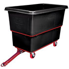 Rubbermaid FG472741BLA Black 27 Cu. Ft. Towable Trainable Utility Cube Truck (1200 lbs.)