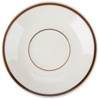 Brown Speckle Narrow Rim 6 inch China Saucer - 36/Case