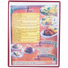 Menu Solutions H500C CHERRY Hamilton 8 1/2 inch x 11 inch Single Panel / Two View Cherry Heat Sealed Menu Board