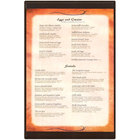 Menu Solutions K22G BROWN K22-Kent 11 inch x 17 inch Single Panel / Double-Sided Brown Menu Board