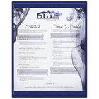 Menu Solutions K22C BLUE K22-Kent 8 1/2 inch x 11 inch Single Panel / Double-Sided Blue Menu Board
