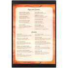 Menu Solutions K22G BLACK K22-Kent 11 inch x 17 inch Single Panel / Double-Sided Black Menu Board