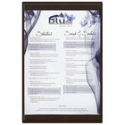 Menu Solutions K22B BROWN K22-Kent 5 1/2 inch x 11 inch Single Panel / Double-Sided Brown Menu Board
