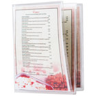 Menu Solutions CHS600D 8 1/2 inch x 11 inch Triple Panel Booklet / Six View Clear Heat Sealed Menu Cover - 12/Pack