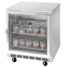 Beverage Air UCF27A-25 Glass Door Undercounter Freezer - 7.3 cu. ft.