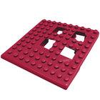 Cactus Mat 2554-TC Dri-Dek 2 inch x 2 inch Burgundy Vinyl Interlocking Drainage Floor Tile Corner Piece - 9/16 inch Thick