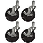 Advance Tabco SU-25S 5 inch Stem Caster Set with Legs - 4 / Set