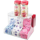 Cal-Mil 786 Acrylic Top-Loading 3 Bin Coffee Condiment Organizer - 12