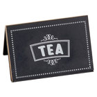 Cal-Mil 3047-4 Chalkboard Beverage Sign with Tea Print - 3 inch x 2 inch x 2 inch