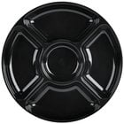 Fineline Platter Pleasers 3506-BK 12 inch 5 Compartment Black Polystyrene Deli / Catering Tray