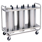 Lakeside 786 Open Base Stainless Steel Adjust-a-Fit Heated Three Stack Plate Dispenser for 4 1/4 inch to 7 1/2 inch Plates