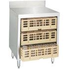 Advance Tabco CRCR-24 Flat Top Glass Rack Storage Unit