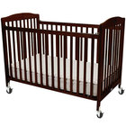 L.A. Baby CS-983-A-C 28 inch x 52 inch Cherry Wood Folding Crib