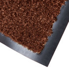 Cactus Mat 1437M-CB46 Catalina Standard-Duty 4' x 6' Chocolate Brown Olefin Carpet Entrance Floor Mat - 5/16 inch Thick