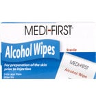 Medi-First Alcohol Wipes / Prep Pads - 50/Box