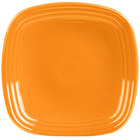 Homer Laughlin 920325 Fiesta Tangerine 9 1/4 inch Square Luncheon Plate - 12/Case