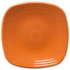 Homer Laughlin 920325 Fiesta Tangerine 9 1/4 inch Square Luncheon Plate - 12 / Case