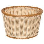 GET WB-1521-TT Designer Polyweave Plastic Round Basket 12 inch x 7 inch - 6 / Pack