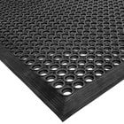 Cactus Mat 2530-C15 VIP TopDek Junior 3' x 14' 8 inch Black Rubber Anti-Fatigue Floor Mat - 1/2 inch Thick