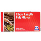 Royal Paper RDEG-100 21 1/2 inch Elbow Length Poly Glove 100/Box
