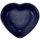 Homer Laughlin 747105 Fiesta Cobalt Blue 9 oz. Heart Bowl - 4 / Case