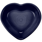 Homer Laughlin 747105 Fiesta Cobalt Blue 9 oz. Heart Bowl - 4/Case
