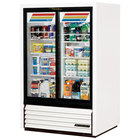 True GDM-33CPT-54-LD Low Profile Narrow Sliding Door Pass-Through Glass Door Merchandiser Refrigerator - 15 Cu. Ft.