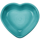 Homer Laughlin 747107 Fiesta Turquoise 9 oz. Heart Bowl - 4 / Case