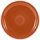 Homer Laughlin 749334 Fiesta Paprika 9 inch Round Healthcare Plate - 12 / Case